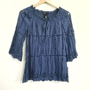NWT INC International Concepts Eyelet Blouse